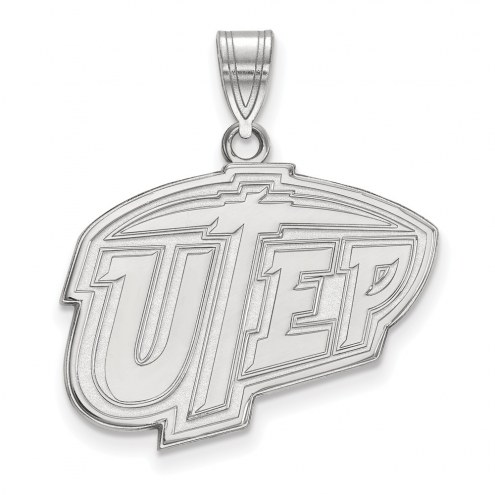 UTEP Miners Sterling Silver Large Pendant