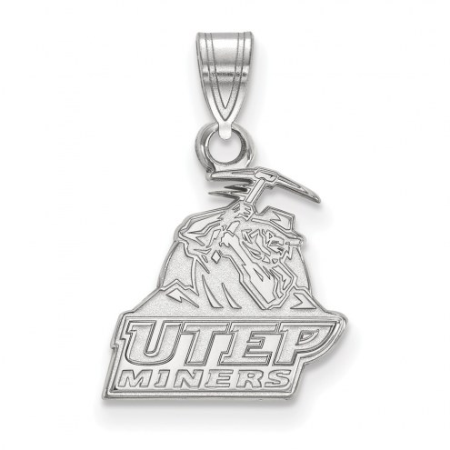 UTEP Miners Sterling Silver Small Pendant