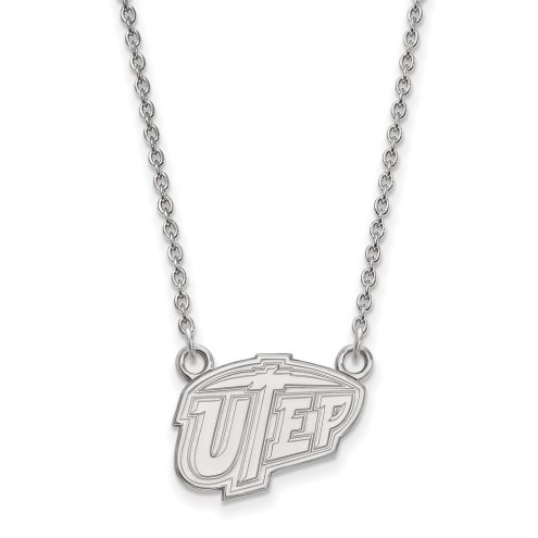 UTEP Miners Sterling Silver Small Pendant Necklace