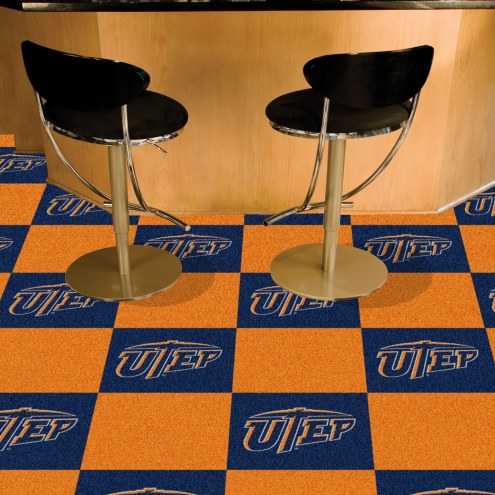 UTEP Miners Team Carpet Tiles