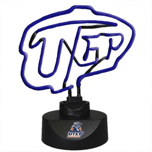 UTEP Miners Team Logo Neon Lamp