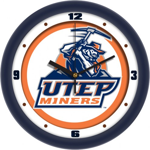 UTEP Miners Traditional Wall Clock