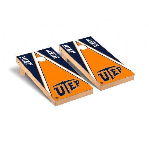 UTEP Miners Triangle Cornhole Game Set