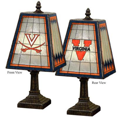 Virginia Cavaliers NCAA Hand-Painted Art Glass Table Lamp