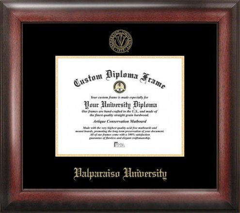 Valparaiso Crusaders Gold Embossed Diploma Frame