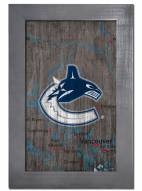 "Vancouver Canucks 11"" x 19"" City Map Framed Sign"