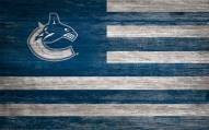 """Vancouver Canucks 11"""" x 19"""" Distressed Flag Sign"""