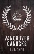 "Vancouver Canucks 11"" x 19"" Laurel Wreath Sign"
