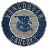 """Vancouver Canucks 12"""" Circle with State Sign"""