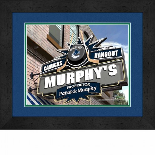 Vancouver Canucks 13 x 16 Personalized Framed Sports Pub Print