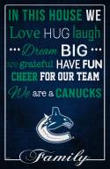 """Vancouver Canucks 17"""" x 26"""" In This House Sign"""