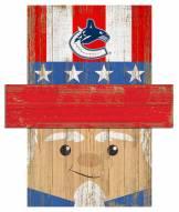 "Vancouver Canucks 19"" x 16"" Patriotic Head"