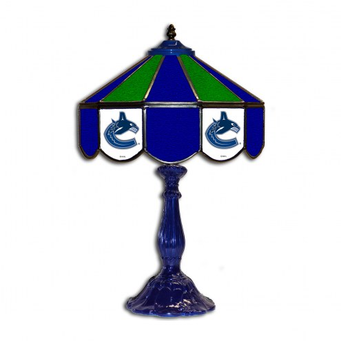 """Vancouver Canucks 21"""" Glass Table Lamp"""