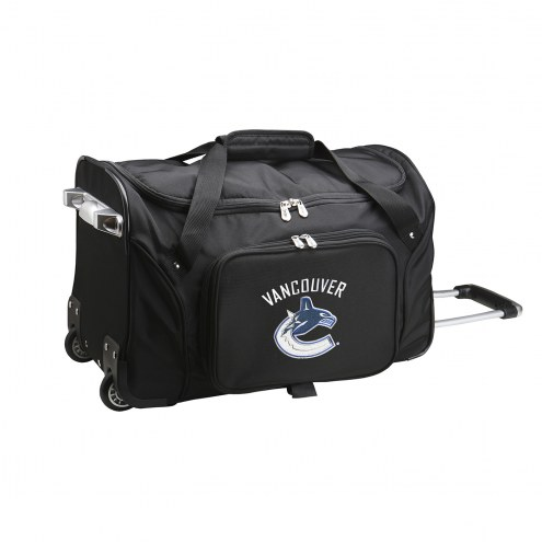 """Vancouver Canucks 22"""" Rolling Duffle Bag"""