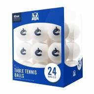 Vancouver Canucks 24 Count Ping Pong Balls
