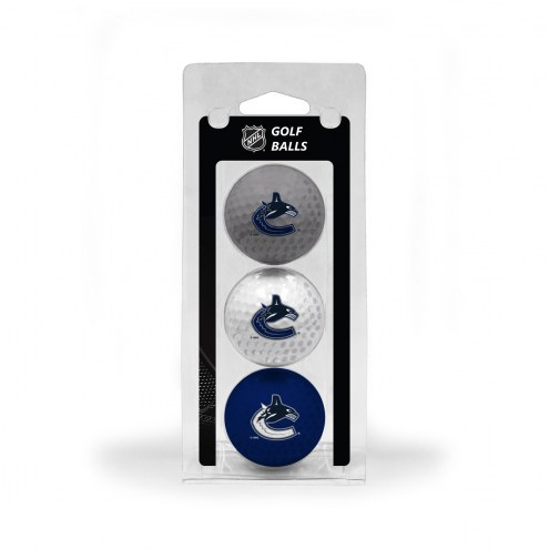 Vancouver Canucks 3 Pack of Golf Balls
