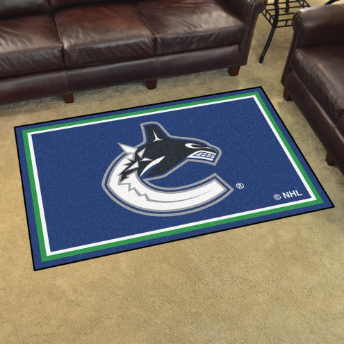 Vancouver Canucks 4' x 6' Area Rug