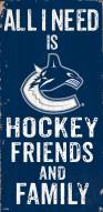 """Vancouver Canucks 6"""" x 12"""" Friends & Family Sign"""