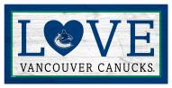 """Vancouver Canucks 6"""" x 12"""" Love Sign"""