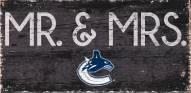 "Vancouver Canucks 6"" x 12"" Mr. & Mrs. Sign"