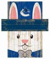 """Vancouver Canucks 6"""" x 5"""" Easter Bunny Head"""