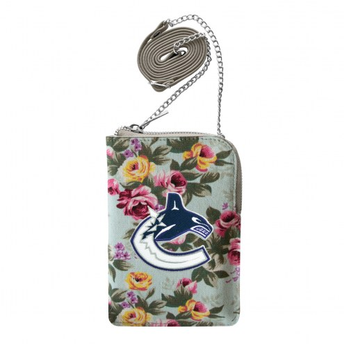 Vancouver Canucks Canvas Floral Smart Purse