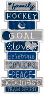 Vancouver Canucks Celebrations Stack Sign