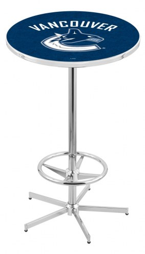 Vancouver Canucks Chrome Bar Table with Foot Ring
