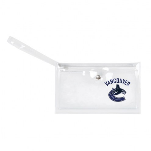 Vancouver Canucks Clear Ticket Wristlet