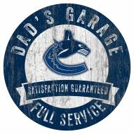 Vancouver Canucks Dad's Garage Sign
