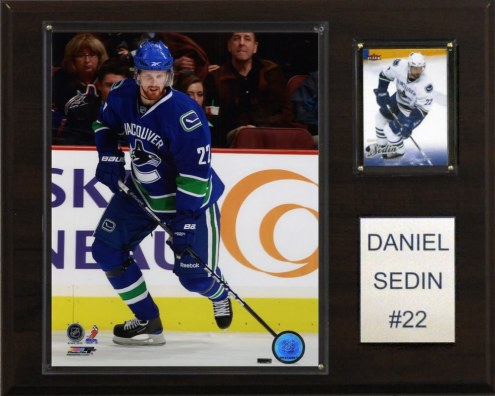 "Vancouver Canucks Daniel Sedin 12"" x 15"" Player Plaque"