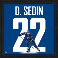 Vancouver Canucks Daniel Sedin Uniframe Framed Jersey Photo