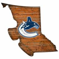 Vancouver Canucks Distressed State with Logo Sign