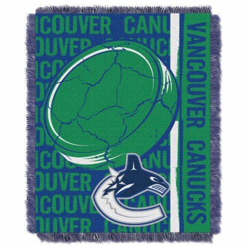Vancouver Canucks Double Play Woven Throw Blanket