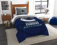 Vancouver Canucks Draft Twin Comforter Set