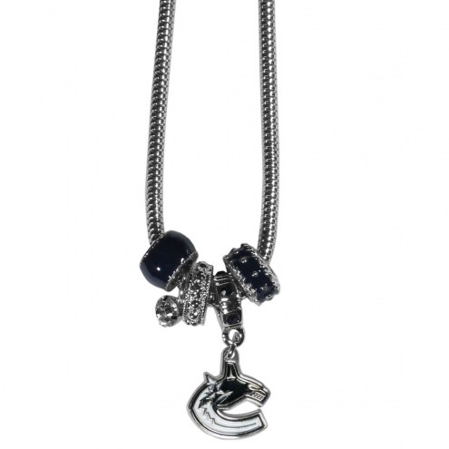 Vancouver Canucks Euro Bead Necklace