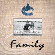 Vancouver Canucks Family Picture Frame