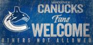 Vancouver Canucks Fans Welcome Sign