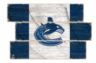 Vancouver Canucks Flag 3 Plank Sign
