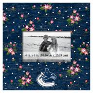 """Vancouver Canucks Floral 10"""" x 10"""" Picture Frame"""