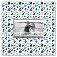 """Vancouver Canucks Floral Pattern 10"""" x 10"""" Picture Frame"""