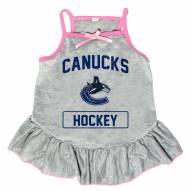 Vancouver Canucks Gray Dog Dress