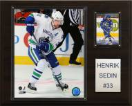 "Vancouver Canucks Henrik Sedin 12"" x 15"" Player Plaque"