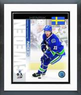 Vancouver Canucks Henrik Sedin Sweden Portrait Plus Framed Photo
