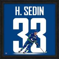 Vancouver Canucks Henrik Sedin Uniframe Framed Jersey Photo