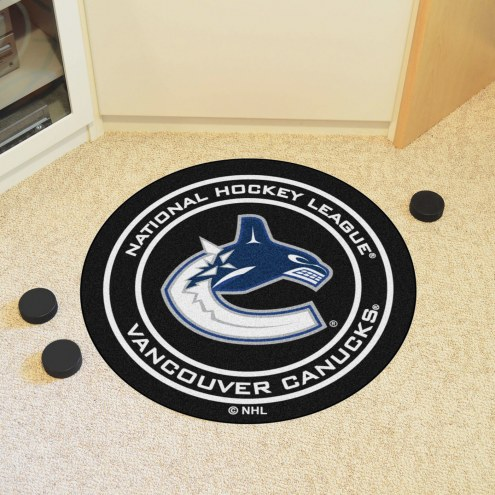 Vancouver Canucks Hockey Puck Mat