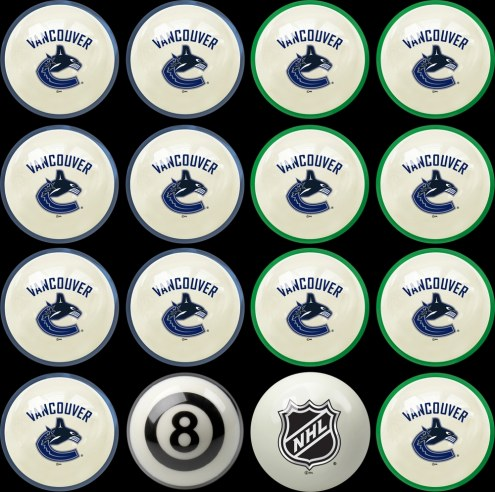 Vancouver Canucks Home vs. Away Pool Ball Set