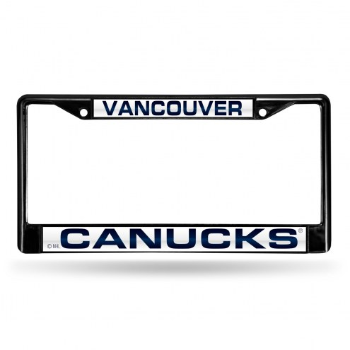 Vancouver Canucks Laser Black License Plate Frame