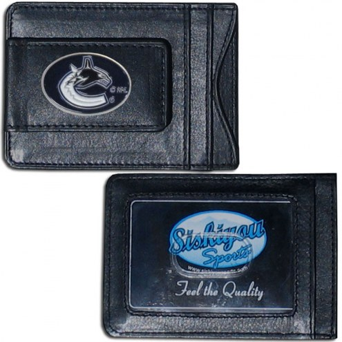 Vancouver Canucks Leather Cash & Cardholder