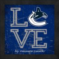 Vancouver Canucks Love My Team Color Wall Decor